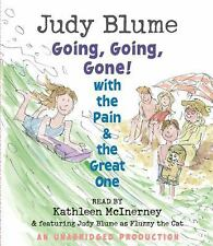 Going, Going, Gone! with the Pain and the Great One by Judy Blume (2008, CD,...