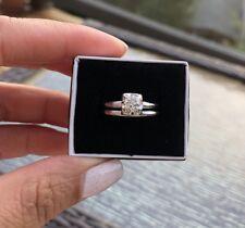 Vintage Old European Cut Diamond .75ct  Engagement Ring Set Sz 9