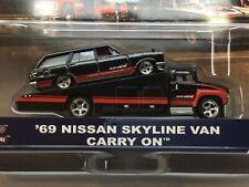 Hot Wheels Team Transport '69 Nissan Skyline Van Carry On. Real riders.