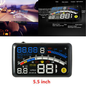 Universal 5.5'' OBII Car Vehicle HUD Head Up Display Digital Speeding   System