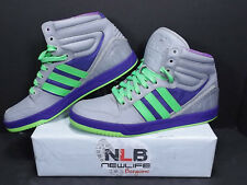 2013 Adidas Trefoil Court Attitude G99100 Gray/Purple/Ray Green Men's Size 10