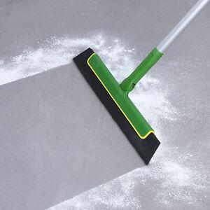 Floor Squeegee Wiper Brush Extendable Handle Window Cleaner Mop Broom 51''Green