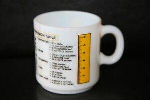 Vintage Metric Conversion Coffee Tea Mug - Maker Unknown