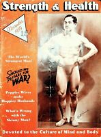 VINTAGE 1939 Strength and Health Magazine Bill Leardi Weightlifting News Adverts