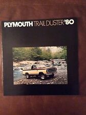 1980 Plymouth Trail Duster Sales Brochure - Printed 8/79