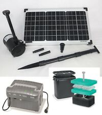 20 W Solar Tauchpumpe Akku Pumpe Teichpumpe Gartenteich Batterie Springbrunnen *