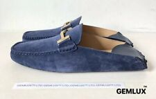 TOD'S GOMMINO COLLAPSIBLE-HEEL NUBUCK AND LEATHER DRIVING SHOES SIZE 42 RRP £420