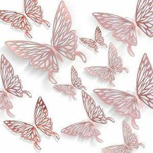 12 pcs 3D Butterfly Wall Stickers Room DIY Decal Removable Art Decorations