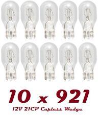 10 x 921 12V 16W/18W 955 Bulbs HIGH LEVEL BRAKE STOP LIGHT Capless REAR BULB T15