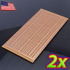 [2x] 5 x 10 cm DIY PCB Prototype Circuit Solder BREADBOARD - Discrete and DIP