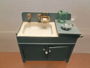 Chrysnbon Blue Sink with accessories