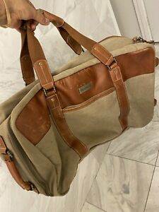 """Tommy Bahama 22"""" Upright Rolling Wheeled CarryOn Duffle Bag Canvas"""