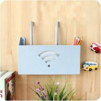 Router Storage Box Wall Mount Bracket Wifi Holder Hanging Cable Organizer Shelf