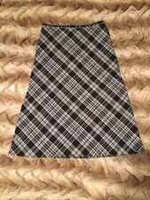 Black Gray Trendy Midi Skirt, Size 4/6, New