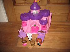 Pink PRINCESS OPENOUT CASTLE PALACEFURNITURE jugar FIGURAS KING HORSE BATTLES Divertido