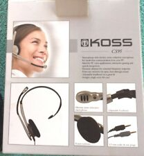 Koss CS95 Comm Stereophone Microphone Noise Reduction Hands Free 8ft Cord 3.5mm
