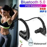 Wireless Earphone Bluetooth 5.0 Headphone Waterproof Sport Headset For Swimming