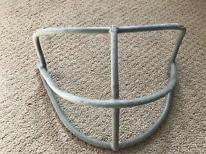 Vtg 1970s Riddell Adult Football Helmet Facemask face guard used NOPO Gray    M