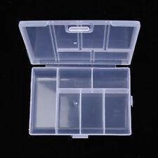 6 Slots Clear Plastic Jewelry Storage Box Case Craft Organizer Bead Holder Mini