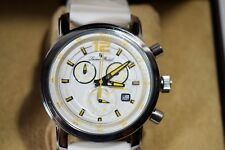 Lucien Piccard Men's Toules Chrono Watch White Silicone 12585-02-YA