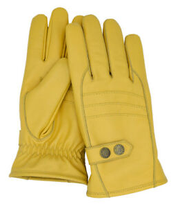 Riparo Men's Genuine Leather Winter Insulated Gloves with Fleece Lining