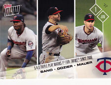 2017 Topps NOW 206 Miguel Sano Brian Dozier Joe Mauer Twins 5-4-3 Triple Pay