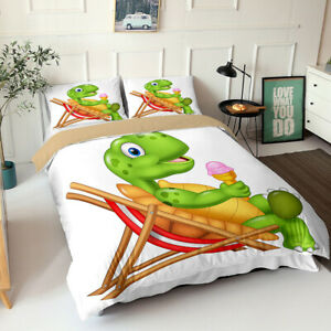 Underwater World Bedding Set Quilt Cover and Pillowcase Coral Fish Sea Turtle