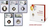 2021 US Mint HAPPY BIRTHDAY 5-Coin-Set Dime Half Penny Nickel Quarter NGC PF69