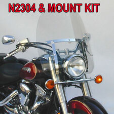 KAWASAKI VN900C VULCAN CUSTOM 2007-2015 N.C. DAKOTA 4.5 WINDSHIELD N2304 & MOUNT