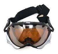 Oakley Snow Goggles Black Silver Strap Snowboard Brown Lens