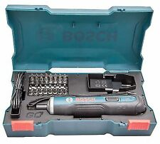 ee6699dfbfaca Bosch Go 3.6V Smart CORDLESS SCREWDRIVER Set 33Bit USB Charging Cable    Adapter