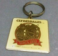 94ca147ef8a Vintage Budweiser Clydesdales Key Chain Ring Officially Licensed Anheuser  Busch