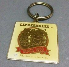 Vintage Budweiser Clydesdales Key Chain Ring Officially Licensed Anheuser Busch