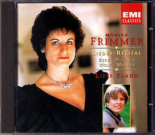 Monika FRIMMER: Alban BERG PFITZNER WOLF MAHLER Lieder KLAHN EMI CD