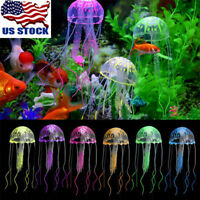 USA Artificial Jellyfish Aquarium Decoration Glowing Effect Fish Tank Ornament