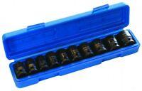 "914010P 10PC 1/2"" Sq High Torque Impact Socket Set Metric Hexagon Nut 10-24 Tool"