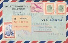 URUGUAY air cover to Belgium 1950s