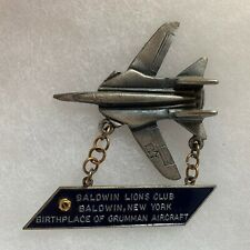 Baldwin NY Birthplace of Grumman Airplane Lions Club Pin