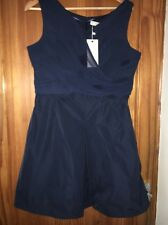 Ladies New Tags S Oliver Feel Pretty Tonight Navy Dress Sleeveless