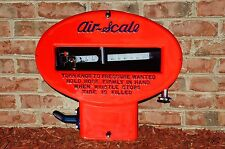 OLD STYLE AIR - SCALE METER THICK STEEL SIGN FROM THE 30's UNBELIEVABLE USA MADE