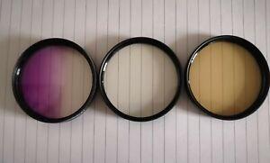 Hunter X3 filters 55mm warmtone UV. Portrait soft. Grad violet – USED camera