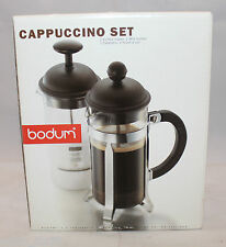 Bodum French Press Coffee Maker 12oz Milk Frother 3.5oz Cappuccino Set Black