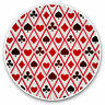 2 x Vinyl Stickers 10cm - Playing Cards Hearts Spades Cool Gift #3724