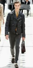 Burberry Prorsum Leather Runway Biker Down Jacket IT48