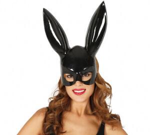 Hasenmaske Bunny Maske mit langen Ohren Fasching Kostüm Accessoire
