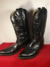 Acme Black Western Cowboy Boots Snip Toe Men's 11D Vintage US Made