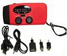3in1 Solar Power AM FM Radio Emergency Hand Cranked Flashligh Backup Battery