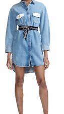 Maje Relmi Blue Denim Short Dress Size 1