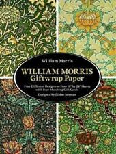 "William Morris Giftwrap Paper: 4 Different Designs on Four 18""X24"" Sheets with F"
