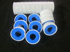 """20 ROLLS PLUMBERS TEFLON THREAD SEAL TAPE 1/2"""" X 520"""" PIPE FITTING AIR GAS LINES"""